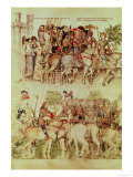 Arthur and His Knights Setting out on the Quest for the Holy Grail, circa 1380-1400 Giclee Print