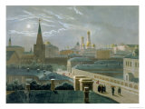 View of the Moscow Kremlin, 1840's Giclee Print by Paul Marie Roussel