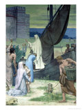St. Genevieve Bringing Supplies to the City of Paris after the Siege Giclee Print by Pierre Puvis de Chavannes