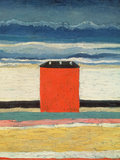 Red House, 1932 Gicle-tryk af Kasimir Malevich