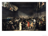 The Tennis Court Oath, 20th June 1789, 1791 Gicleetryck av Jacques-Louis David