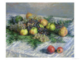 Still Life with Pears and Grapes, 1880 Giclee Print by Claude Monet