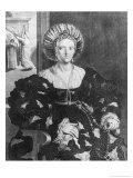 Portrait of Lucrezia Borgia (1480-1519) Reproduction procédé giclée par Hendrik van Balen the Elder