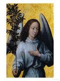 Angel Holding an Olive Branch Giclée-Druck von Hans Memling