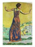 Femme Joyeuse Gicléetryck av Ferdinand Hodler
