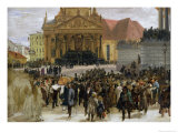 Victims of the March Revolution in Berlin Lying in State, 1848 Giclee Print by Adolph von Menzel
