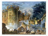 The Taking of the Bastille, 14th July 1789 Reproduction procédé giclée par Jean Pierre Louis L.. Houel