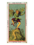 The Devil, Tarot Card from the Grand Etteilla Giclee Print by Alliette 