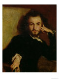 Portrait of Charles Baudelaire (1821-67) 1844 Giclee Print by Emile Deroy
