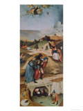Left Wing of the Triptych of the Temptation of St. Anthony Giclee Print by Hieronymus Bosch