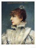 Sarah Bernhardt (1844-1923) 1875 Reproduction proc&#233;d&#233; gicl&#233;e par Louise Abbema