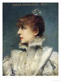 Sarah Bernhardt (1844-1923) 1875 Giclee Print by Louise Abbema