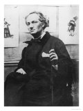 Charles Baudelaire (1821-67) with Engravings, circa 1863 Reproduction proc&#233;d&#233; gicl&#233;e par Etienne Carjat