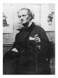 Charles Baudelaire (1821-67) with Engravings, circa 1863 Reproduction procédé giclée par Etienne Carjat