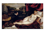 Venus and the Organist, c.1540-50 Giclée-tryk af  Titian (Tiziano Vecelli)