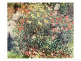 Women in the Flowers, 1875 Premium Giclee Print by Claude Monet