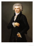 Maximilien De Robespierre (1758-94) 1791 Reproduction proc&#233;d&#233; gicl&#233;e par Pierre Roch Vigneron
