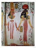 Isis and Nefertari, from the Tomb of Nefertari, New Kingdom (Mural) Premium Giclee Print