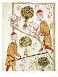 "Surveying and Demarcation of Land, from ""Traite D'Arpentage"" by Arnaud De Villeneuve (1240-1312) Giclee Print by Bertrand Boysset"
