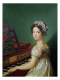 The Artist's Daughter at the Clavichord Giclée-Druck von Zacarias Gonzalez Velazquez