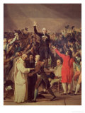 The Tennis Court Oath, 20th June 1789, Detail of the Group Surrounding Bailly, 1791 Giclee Print by Jacques-Louis David