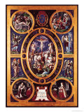 Altarpiece of Sainte-Chapelle, the Crucifixion, Enamelled by Leonard Limosin (1505-76) 1553 Giclee Print by Nicolò dell' Abate