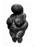 The Venus of Willendorf, Side View of Female Figurine, Gravettian Culture, Upper Paleolithic Period Reproduction proc&#233;d&#233; gicl&#233;e