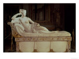 Paulina Bonaparte (1780-1825) as Venus Triumphant, circa 1805-08 Giclee Print by Antonio Canova