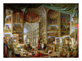 Gallery of Views of Ancient Rome, 1758 Giclée-tryk af Giovanni Paolo Pannini
