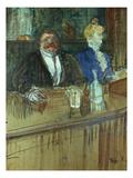 In the Bar: the Fat Proprietor and the Anaemic Cashier, 1898 (Gouache on Paper) Lámina giclée por Henri de Toulouse-Lautrec