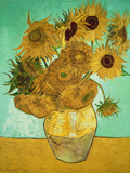 Auringonkukkia (Sunflowers), noin 1888 Giclée-vedos tekijänä Vincent van Gogh