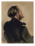 Richard, the Brother of the Artist, 1860 Giclee Print by Adolph von Menzel