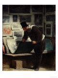 The Collector of Engravings, circa 1860-62 Giclee Print by Honore Daumier