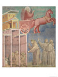 St. Francis Appears to His Companions in a Chariot of Fire, 1296-97 Giclee Print by  Giotto di Bondone