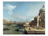 The Entrance to the Grand Canal, Venice Giclée-tryk af Canaletto