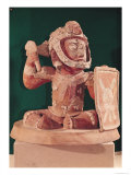 Urn Lid with a Figure of a Warrior, from Guatemala, Classic Period, 600-950 Giclee Print by  Mayan