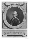 Portrait of Gotthold Ephraim Lessing (1729-81) Engraved by Johann Friedrich Bause (1738-1814) 1772 Giclee Print by Anton Graff