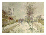 Snow Effect Giclee Print by Claude Monet