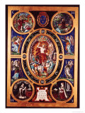 Altarpiece of Sainte-Chapelle, of the Resurrection, Enamelled by Leonard Limosin (1505-76) 1553 Reproduction proc&#233;d&#233; gicl&#233;e par Nicol&#242; dell&#39; Abate