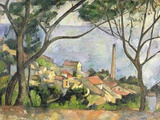 Mar en L'Estaque, 1878 Lámina giclée por Paul Cézanne