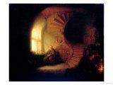 Philosopher in Meditation, 1632 Giclée-tryk af Rembrandt van Rijn