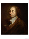 Blaise Pascal (1623-62) circa 1691 Reproduction proc&#233;d&#233; gicl&#233;e par Francois Quesnel