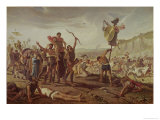 Marius Triumphing over the Cimbri Giclee Print by Saverio Altamura