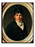 Medallion Portrait of the Comte Esteve, 1804 Giclee Print by Jacques-Louis David