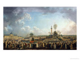 The Festival of the Supreme Being at the Champ De Mars, 8th June 1794 (20 Prairial Year II) Giclee Print by Pierre-Antoine Demachy