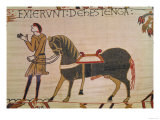 A Messenger Brings News of Harold to William, Detail from the Bayeux Tapestry, Before 1082 Giclee Print