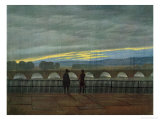 August Bridge in Dresden Giclee Print by Caspar David Friedrich