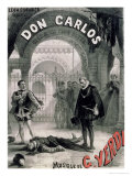 "Poster Advertising ""Don Carlos,"" Opera by Giuseppe Verdi (1816-1901) Engraved by Telory Giclee Print by Alphonse Marie de Neuville"