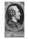 Portrait of Jean Francois Marmontel (1723-99) Engraved by Augustin De Saint-Aubin (1736-1807) 1765 Giclee Print by Charles-Nicolas Cochin II