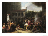 The Storming of the Bastille and the Arrest of Joseph Delaunay (1752-94) 1789-93 Giclee Print by Charles Thevenin